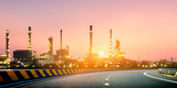 Oil refinery with morning light - 173535035
