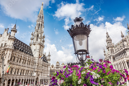 Foto op Canvas Brussel The Grand Place in Brussels, Belgium