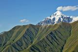 the Caucasus mountain range in Georgia. Mountain landscape.