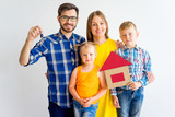 Family moving into new house - 173544669