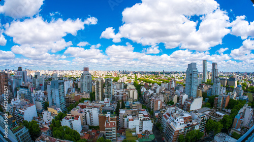 Foto op Aluminium Buenos Aires View of the skyline of Buenos Aires on a sunny day