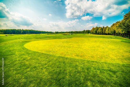 Foto op Plexiglas Kiev Kiev, Kiyv, Ukraine: he golf field inthe Mezhyhirva Residence situated on the banks of the Dnieper river of former pro-russian Prime Minister and President Viktor Yanukovych, now a museum