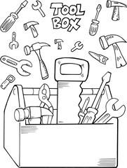 Tool Set Construction Vector Illustration Art