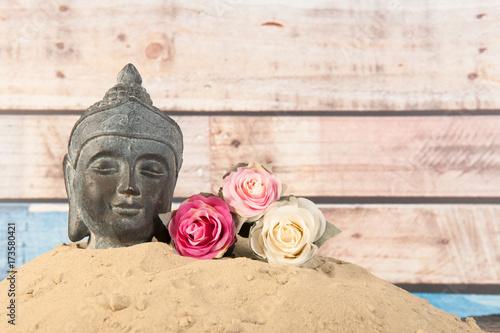 Papiers peints Buddha Buddha in sand