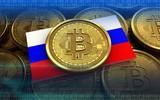 3d bitcoin Russia flag - 173582074