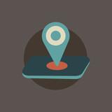 Illustration of location icon vector - 173603460