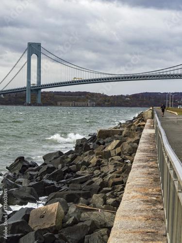 Fototapeta verrazano bridge view