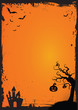 Halloween element with border and background template
