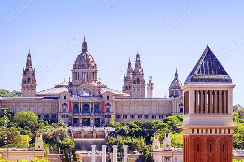 Aluminium Barcelona Placa De Espanya, the National Museum in Barcelona. Spain