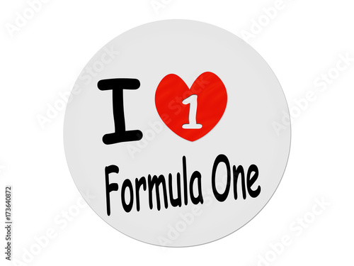 Aluminium F1 I love Formula One