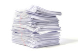 Stack of Documents isolated on white background - 173643070