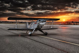 Aircraft with sunset