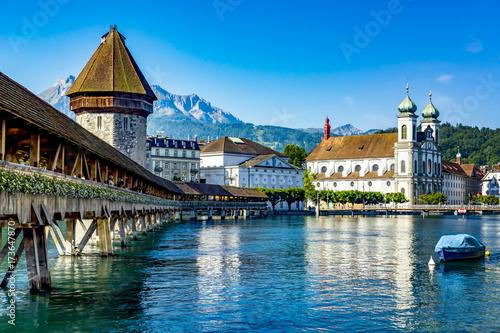 Leinwanddruck Bild Lucerne in Switzerland