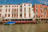 venice August2017: sailing through the canals in venice admiring the ancient buildings