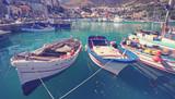 Fischerhafen in Castellammare del Golfo, Sizilien - 173671039