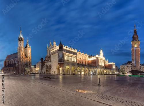 Aluminium Krakau Main Square in Krakow