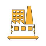 industrial factories buildings icon vector illustration graphic design - 173672801