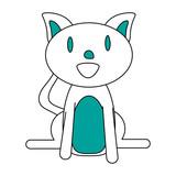 smiling pet cat vector icon illustration graphic design