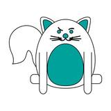 rude face pet cat vector icon illustration graphic design