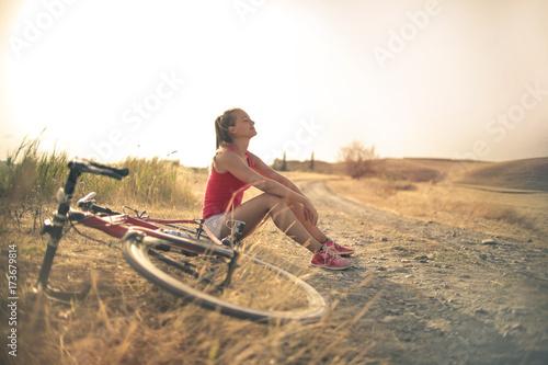 Girl on a bike ride