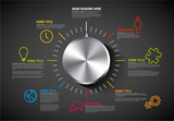 Vector Infographic report template with knob - 173691813
