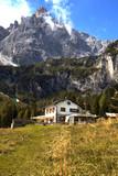 rifugio Lunelli at the  Dolomites mountains