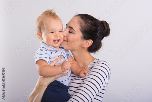Beautiful young mom with baby . © Zsolnai Gergely