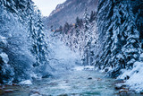 Winter in Vrata valley, Julian alps, slovenia. - 173702213