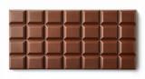 Milk chocolate bar isolated on white background - 173711487