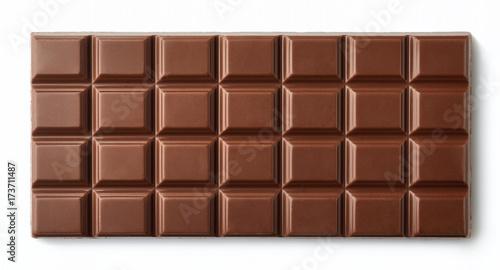 fototapeta na ścianę Milk chocolate bar isolated on white background