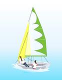 Isolated windsurf in ocean. - 173721650