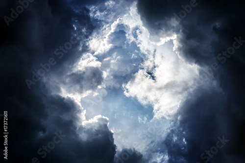 Dramatic Clouds Background - 173721611
