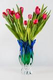 Bouquet of dozen red tulips