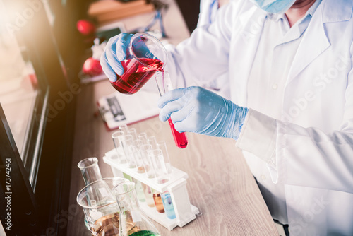 scientist working in science and chemical for health