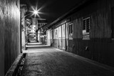 Urban city alley at night in asia - 173747410