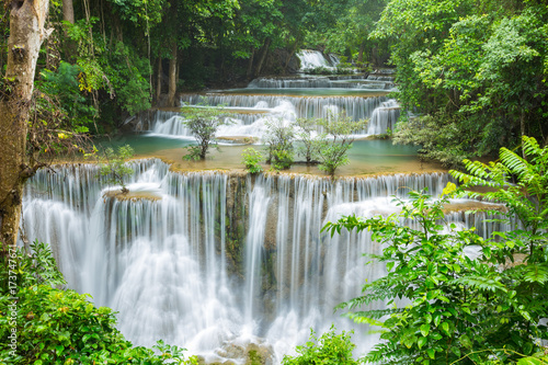 beautiful waterfall in Thailand - 173747671