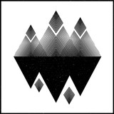 Abstract mountains. Concepts vector illustration. Design black interior graphic.