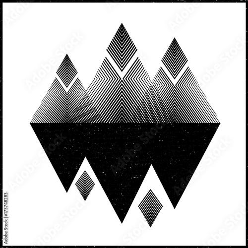 Fototapeta Abstract mountains. Concepts vector illustration. Design black interior graphic.
