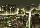 New York Night Skyline - 173757828