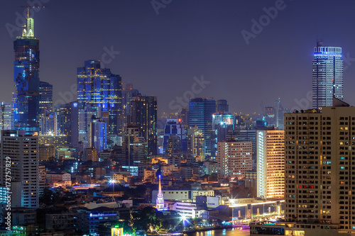 Foto op Canvas Aubergine Bangkok city.