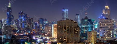 Foto op Canvas Aubergine Bangkok city.