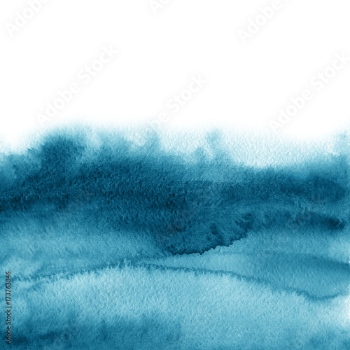 Watercolour painting. Summer breeze design concept. Brush stroke, design element. - 173763846