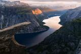 Breathtaking view of Trolltunga rock - 173774643