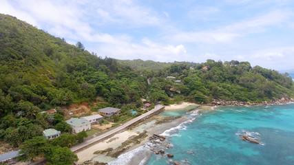 Beautiful coastline of Seychelles