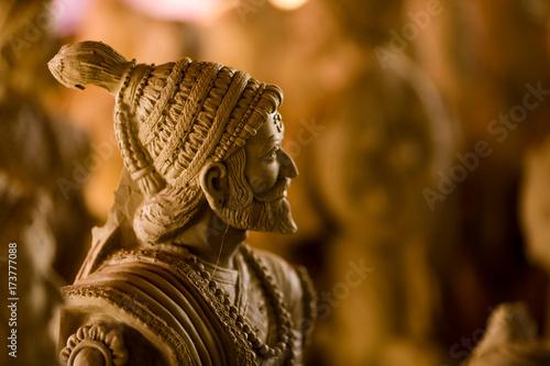 Indian King Shivaji Maharaj sculpture Poster