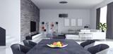 Living room, interior design 3D Rendering - 173778671