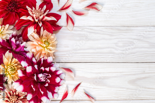 image with dahlias.