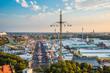 Leinwandbild Motiv Aerial view of Oktoberfest from St. Paul Cathedral