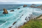 Broken coast at Liencres, Cantabria, Spain - 173832411