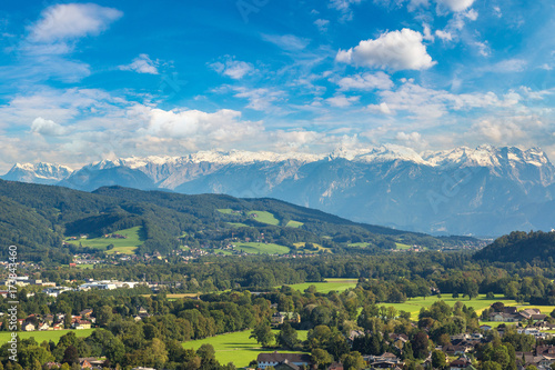 Fotobehang Landschappen Panoramic view of Salzburg